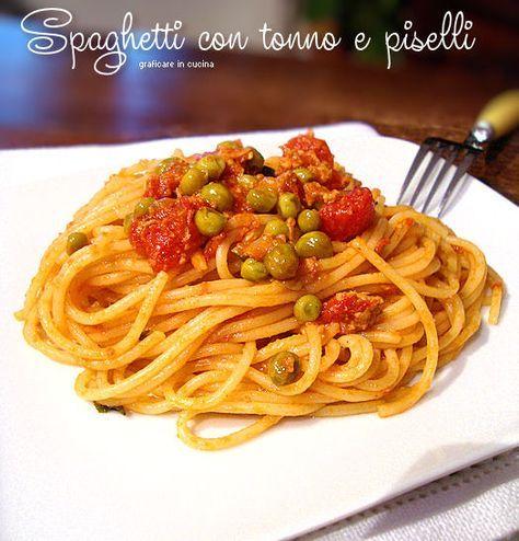 #Spaghetti con #tonno e #piselli