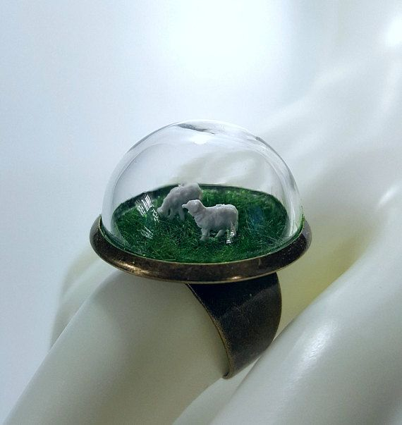 Miniature Sheep Farm Ring  Fast and free shipping to the US and Canada!
