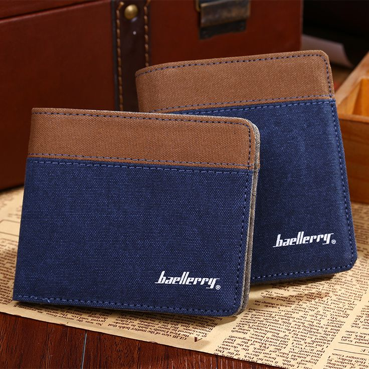 2016 New Retro  Canvas Men  Wallets Male Purse  Card Holders Small Wallet New Design Multi Pockets Purse For Male