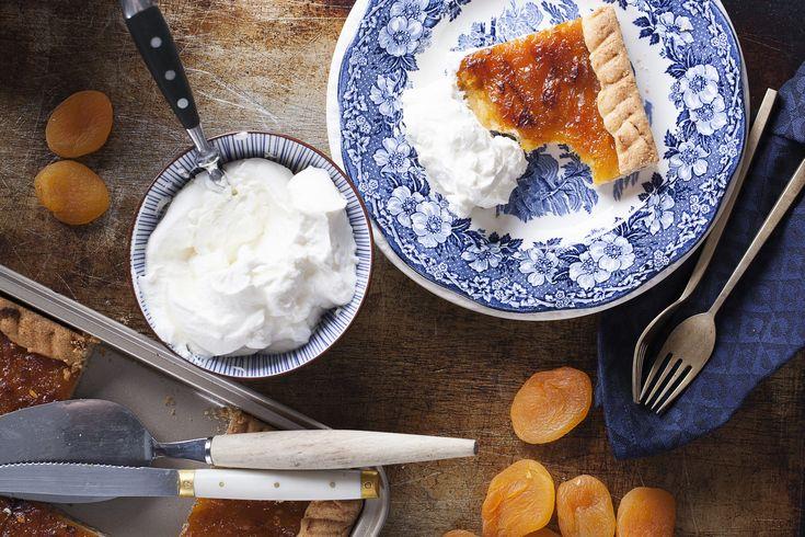 Kruche ciasto z dżemem morelowo-anyżowym #cake #desert #apricot