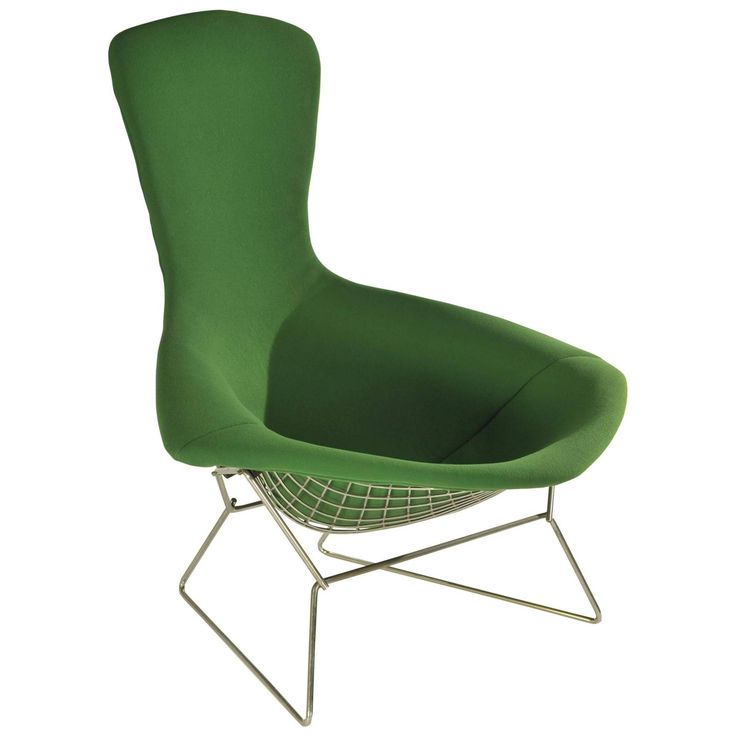 Green Bird Chair By Harry Bertoia For Knoll, USA