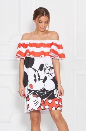 Veselé šaty z kolekcie Disney, univerzálnej veľkosti, voľného strihu a príjemného materiálu. Vhodné na každodenné nosenie.
