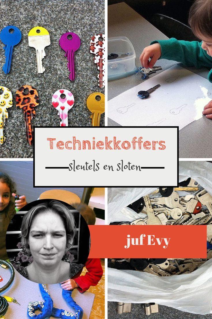 Techniekkoffers van juf Evy - sleutels en sloten - Juf Bianca