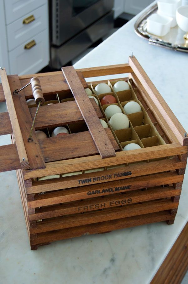 Vintage-egg-crate. Would be better if each layer pulled out the side.