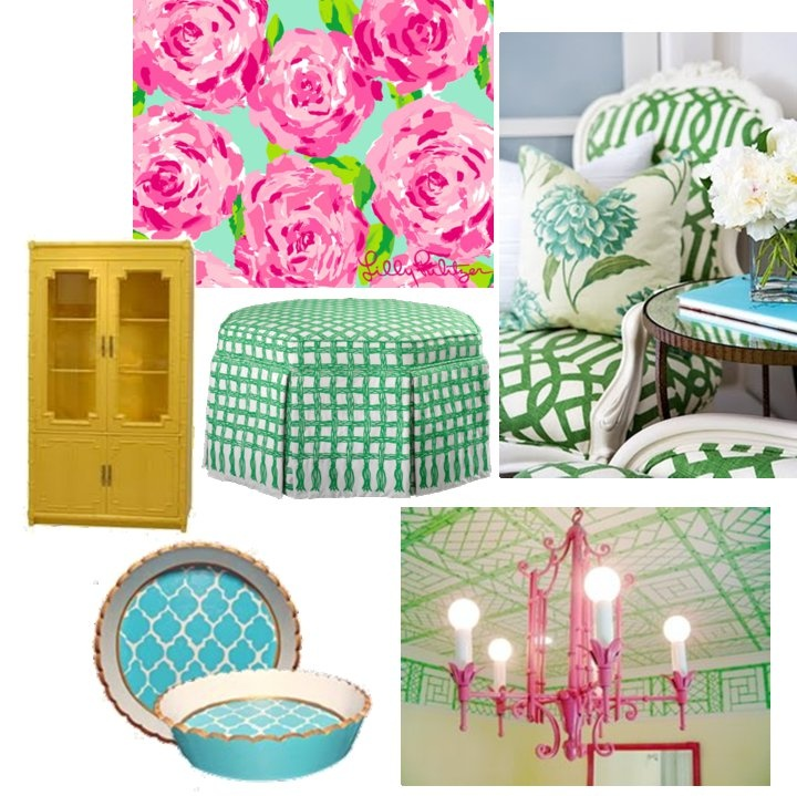 love color combination and various patterns - inspiration for Taylor's room