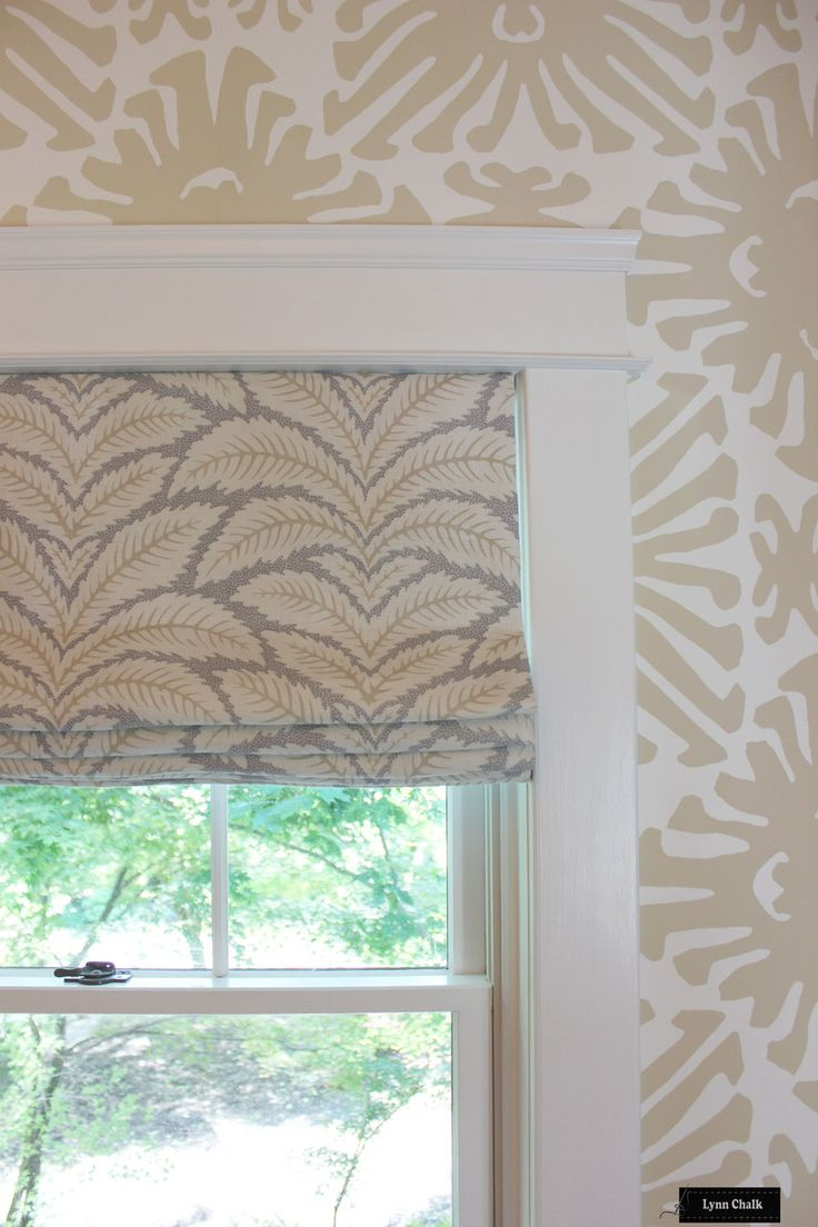 Contemporary roman shade in schumacher imperial trellis fabric by - Brunschwig Fils Lee Jofa Talavera Roman Shades Shown In Birch Comes In 4 Colors