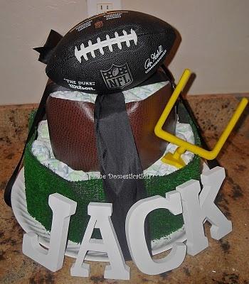Football diaper cake