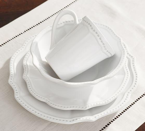Leila Stoneware 16 Piece Dinnerware Set White  sc 1 st  Pinterest & 17 best White Dishes images on Pinterest | White dishes White ...