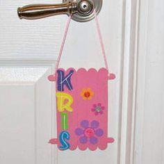 Craft Stick Door Hanger Craft