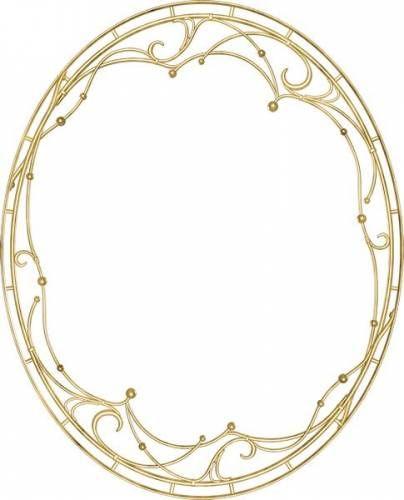 Овальная рамка с золотыми шарикамиg