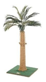 Kitty Palm Cat Tree with Palm Top/Carpet/Manila Rope - Green - 36 inch