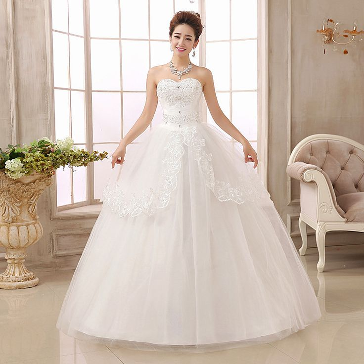 Cheap Lace Wedding Dress Sweetheart Bridal Ball Gown Plus Size Princess In Stock Wedding Gown 2016 Real Photo Vintage Gown#gown