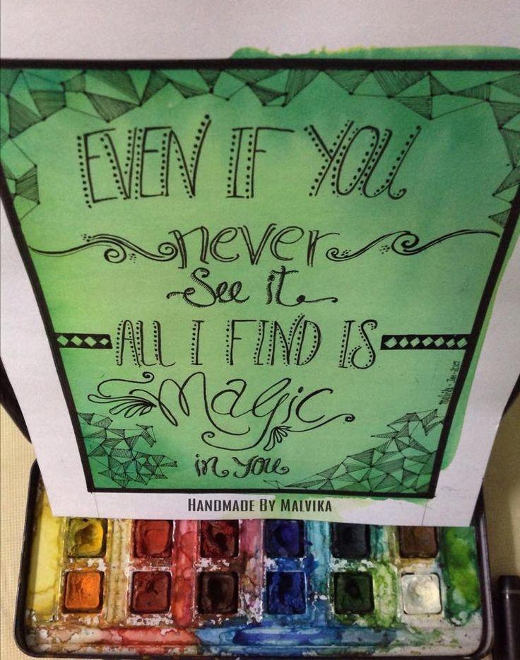 Yes, you are magic  https://www.facebook.com/HandmadeByMalvika/photos/a.563949757093577.1073741835.334849910003564/420077208147500/?type=3