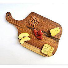 Pomôcky - Drevený lopár na servírovanie syra z tvrdého dreva Tali | Rustic Serving Cheese or Cutting board - 8308630_
