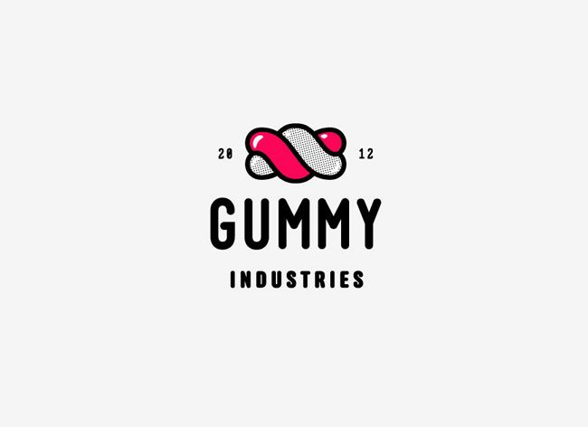 Gummy Industries . Logo . Identity . Brand . Graphic Design . Candies . Sweet .