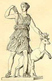 Артемида-богиня охоты, сестра Афины, Афродиты, поло бога Гефеста ,Аполлона. Дочь Геры.