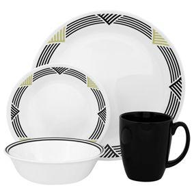 #Corelle Global Stripes 16pc #Dinner #Set
