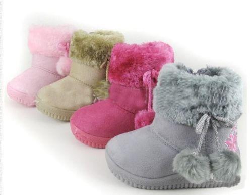 Magnifique-bottes-fourrees-pour-bebe-enfant-fille-Du-21-au-25