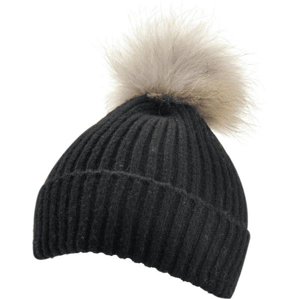 Black Vintage Fuzzy Ball Embellished Flanging Lightweight Beanie ($8.47) ❤ liked on Polyvore featuring accessories, hats, embellished beanie, beanie cap hat, vintage beanie hats, lightweight beanie and beanie hat