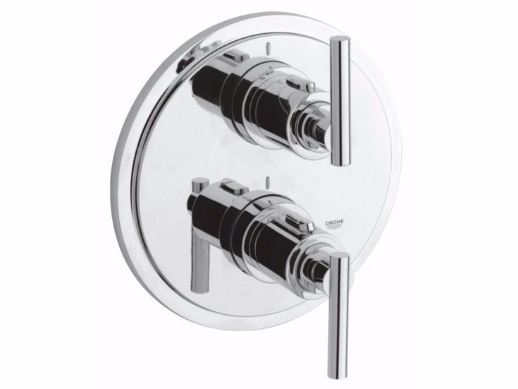 Wall-mounted thermostatic bathtub/shower mixer with diverte ATRIO CLASSIC JOTA | Mitigeur de baignoire 2 trous by Grohe  Robinetterie salle de bain