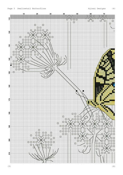 Gallery.ru / Фото #12 - Ajisai Designs - Swallowtail Butterflies - tymannost