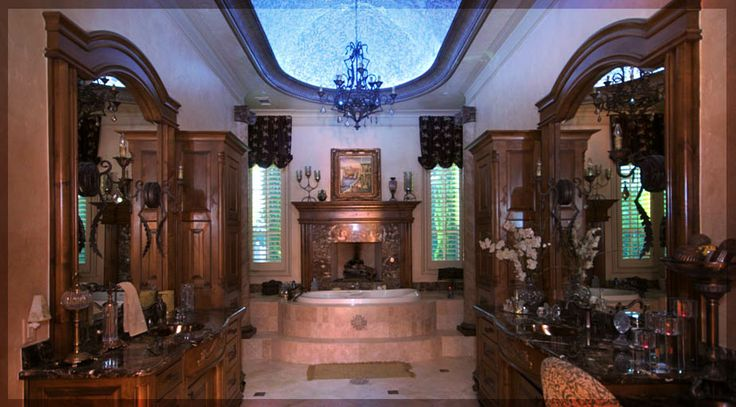 Luxury Bathroom Design in Colleyville TX - Custom Home Builders in DFW |  http://lstewarthomes.com #Colleyville #BathroomDesign