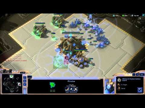 StarCraft 2 Protoss vs Protoss rush Void ray