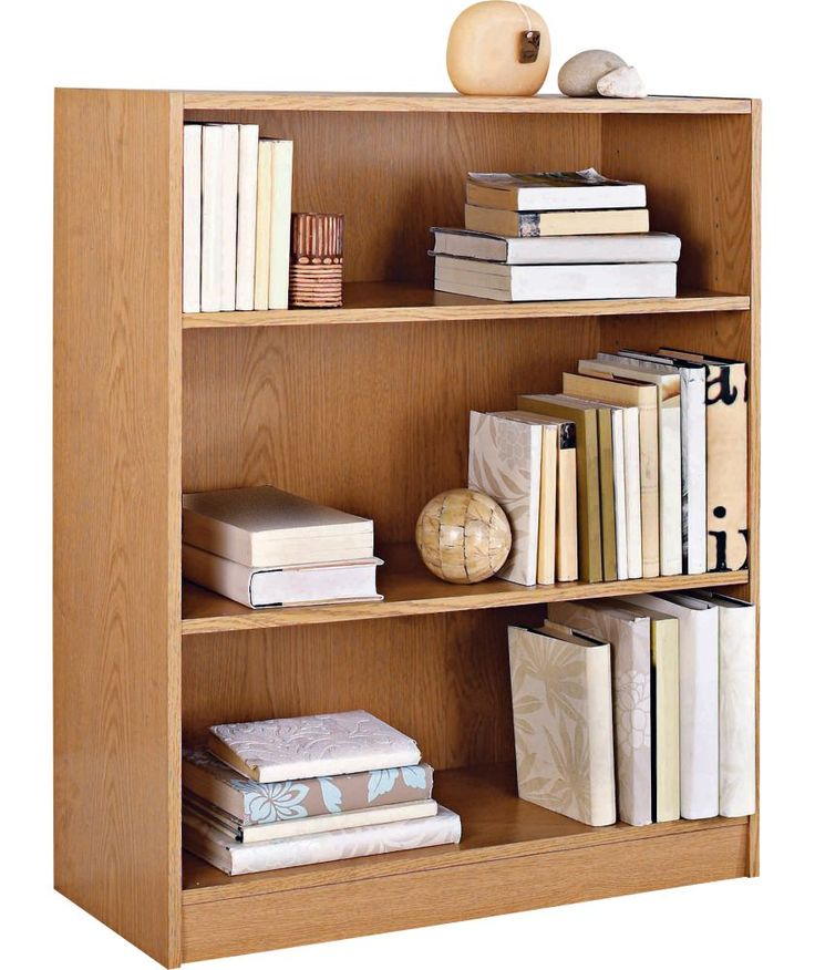 Buy Maine Small Extra Deep Bookcase - Oak Effect at Argos.co.uk - Your Online Shop for Bookcases and shelving units.