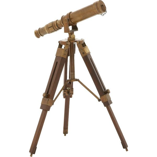 Dot & Bo Galileo Decorative Telescope ($235) ❤ liked on Polyvore featuring home, home decor and transitional home decor