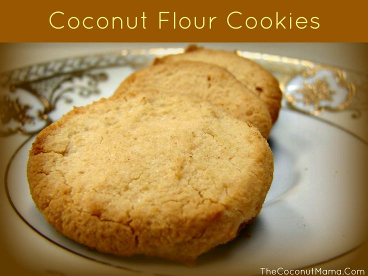 3 ingredient egg free, gluten free coconut flour cookies!