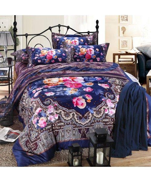 Luxury Egyptian Cotton Sateen Bed Set [HBS-05-00158]