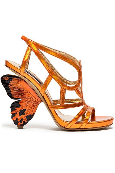 Alberto Guardiani - Women's Shoes - 2014 Spring-Summer.  I have seen butterflies on shoes, but never quite like this.