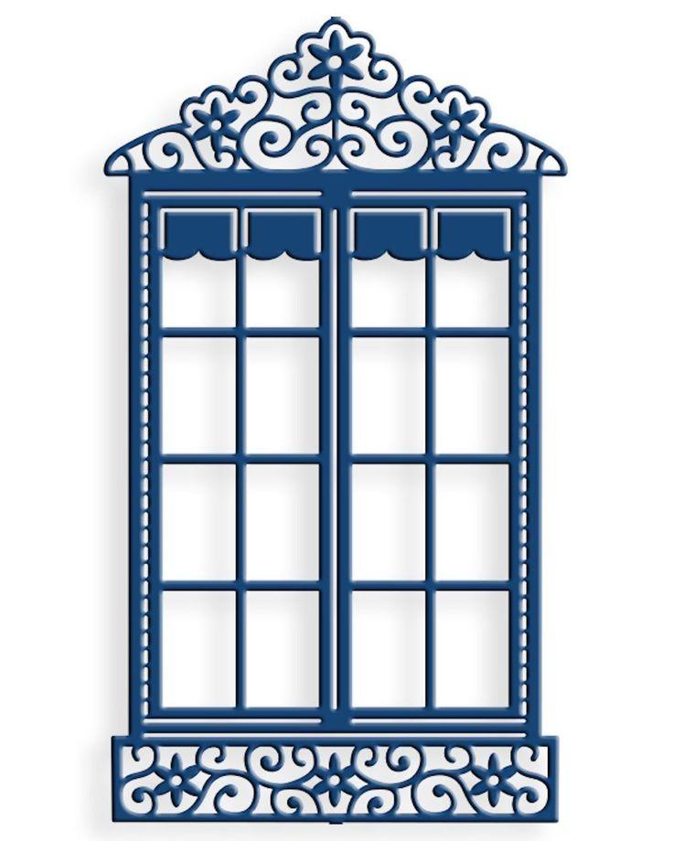 Шаблон для открытки окно
