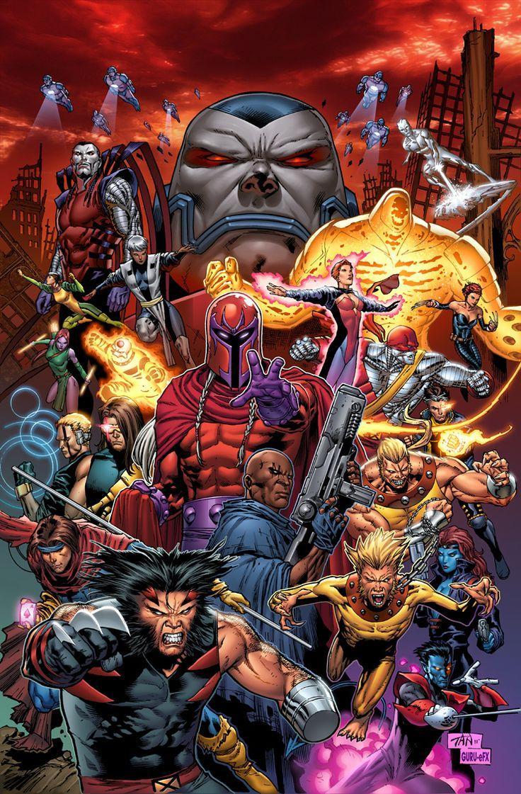 Apocalypse vs X-Men by Billy Tan
