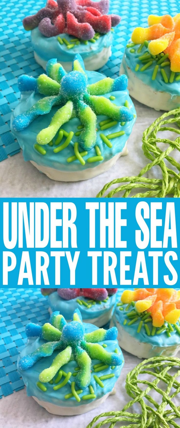 These adorable Under the Sea Party Treats are perfect for ocean themed birthday parties. They are a fun and easy treat that kids will adore and they are perfect for Under the Sea Birthday Parties!