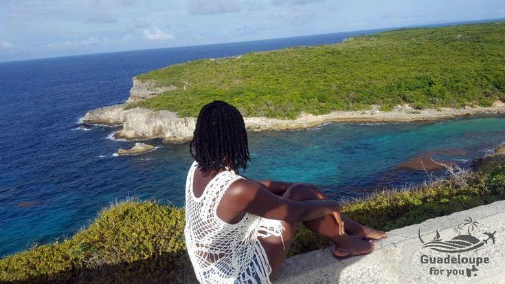 Porte d'enfer cliff in Guadeloupe islands