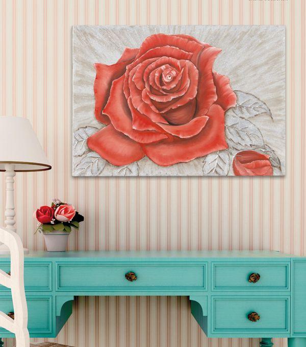 #PINTDECOR #rose #quadro #pannelli #decori #art #style #flowers #red