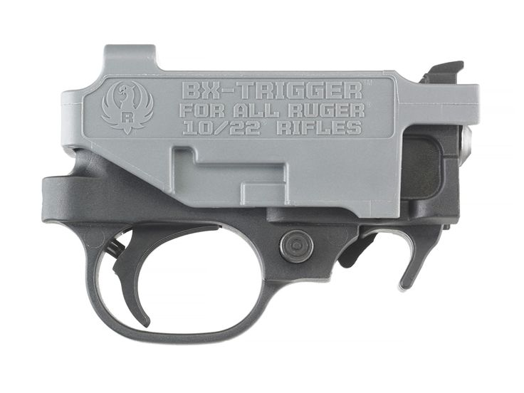 Ruger BX-Trigger upgrade for a Ruger 10/22.  Available from midwayusa.com and other sites