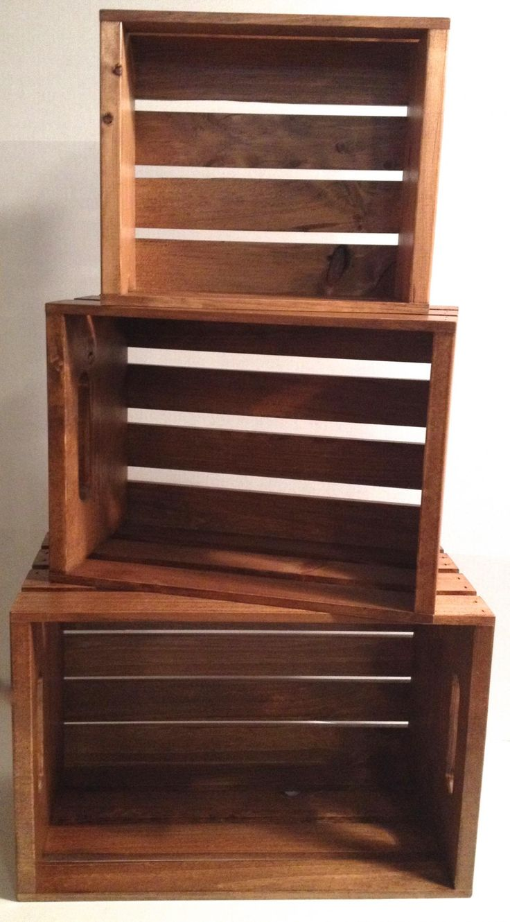 Rustic wood dark stained stacking crates display for markets, country stores, grocers, general stores, etc. Custom Sizes available-JBrothersandCompany.com