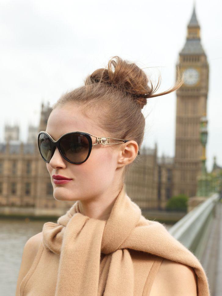 Pin & Win! Classic chic. Shady lady #Versace #sunglasses #macysfallstyle