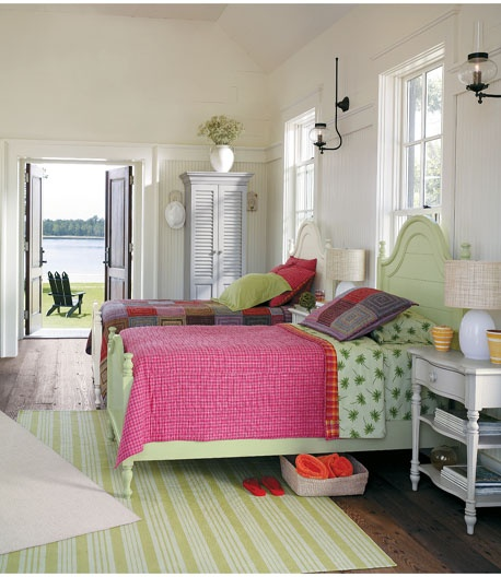 Coastal Living Beds, painted in colors