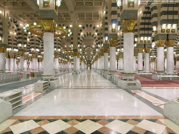 Interior of Masjid Nabawi