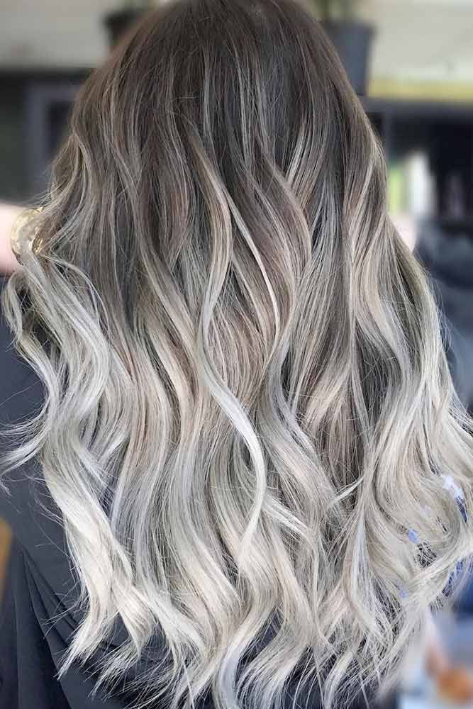 Cool Colors To Dye Your Hair: 33 Try Grey Ombre Hair This Season