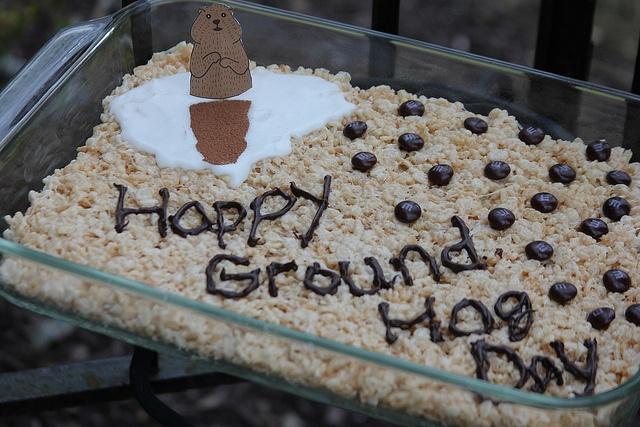 Happy Ground Hog Day Rice Krispie Treats!