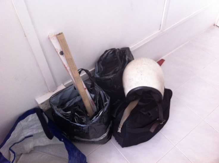 "...when the ""professional"" plummer shows up with his tools in a plastic bag. (Penang, Malaysia)"