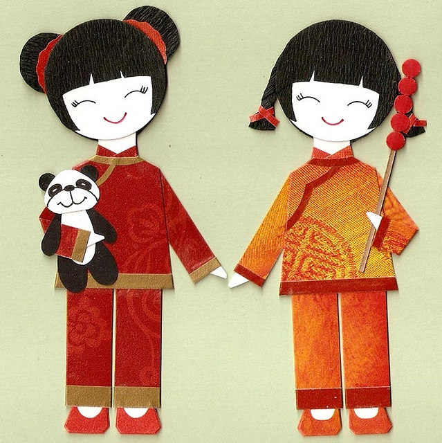 Chinese girl Paper dolls