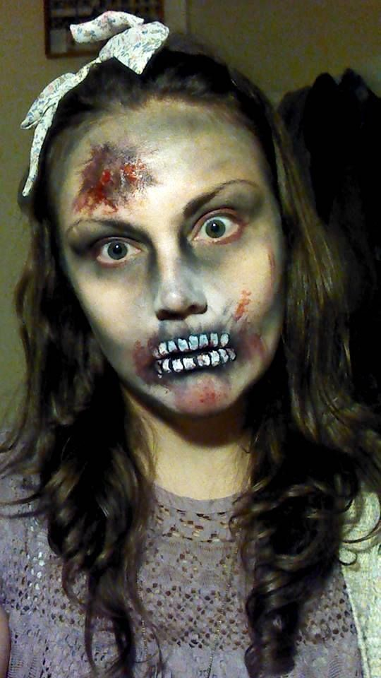 zombie girl design for halloween face painting - Zombie Halloween Faces