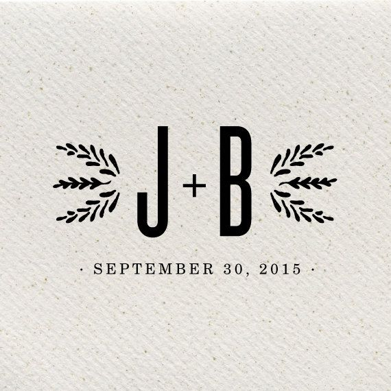 Huckleberry Rustic Wedding Logo by southelliott on Etsy