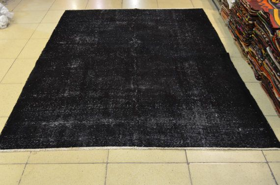 Black overdyed carpet. Turkish carpet. Turkish by liveloverugs