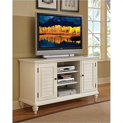 home style bermuda tv credenza stand brushed white finish for sale https